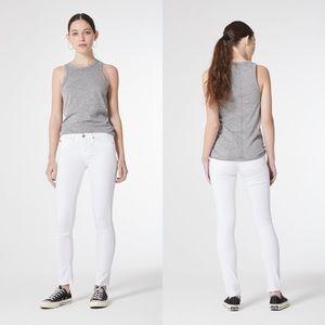AG The Stilt Cigarette Leg Jeans in White